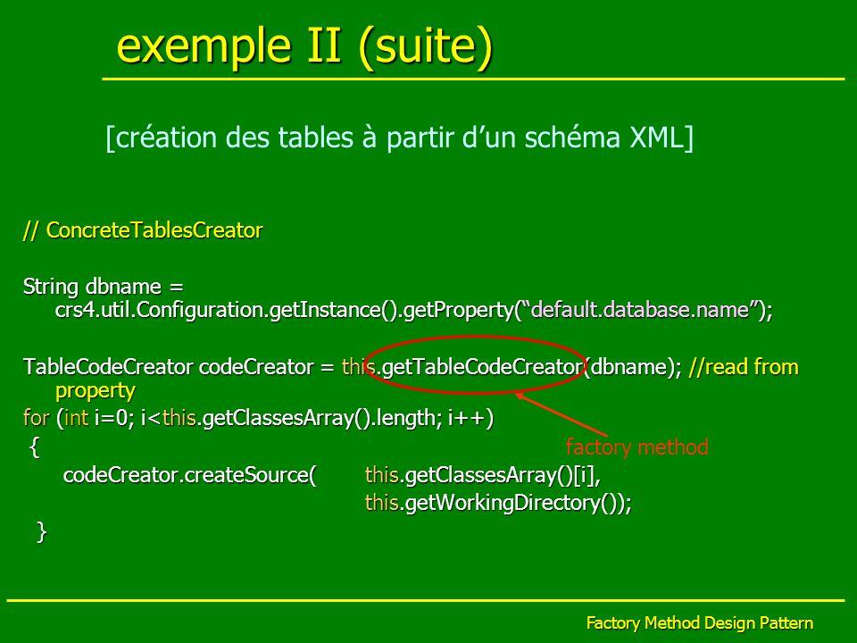 exemple II (suite) [création des tables à partir d'un schéma XML]